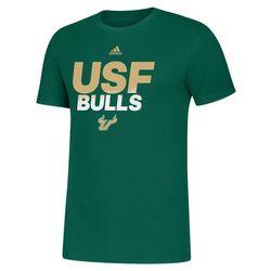USF Bulls Mens Spray Name T-Shirt by Adidas