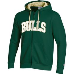USF Bulls Mens Logo Zipper Hoodie by Champion