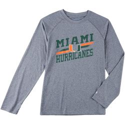 Miami Hurricanes Mens Persistent Logo T-Shirt by Champion