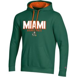 Miami Hurricanes Mens Logo Hoodie by Champion