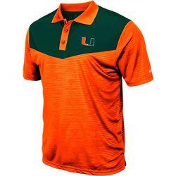 Miami Hurricanes Mens Bart Polo Shirt by Colosseum