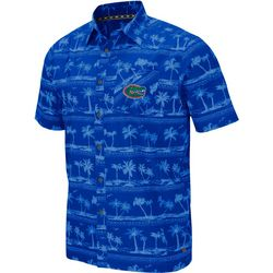 Florida Gators Mens Hilo Camp Shirt by Colosseum