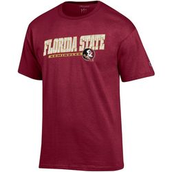 Florida State Mens Logo Print T-Shirt by Champion