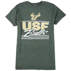 USF Bulls Mens Heather Short Sleeve Logo Tee by Victory