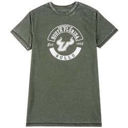 USF Bulls Mens Burn Out WAsh Logo Tee by Victory