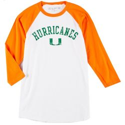 Miami Hurricanes Mens Long Sleeve Raglan T-Shirt by Victory