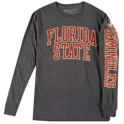 Florida State Mens Long Sleeve Heather Logo Tee by Victory