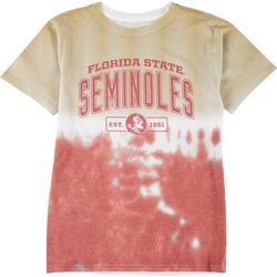 Florida State Mens Tie Die Team Logo T-shirt by Victory