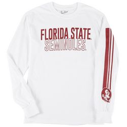 Florida State Mens Long Sleeve Stripe Logo Tee by Victory