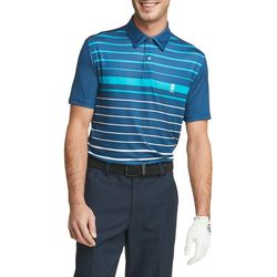 IZOD Golf Mens Waikiki Ombre Stripe Polo Shirt
