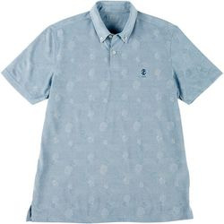 IZOD Golf Mens Pineapple Tonal Polo Shirt