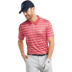 IZOD Golf Mens Prep Stripe Print Polo Shirt