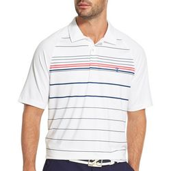 IZOD Golf Mens Striped Polo Shirt