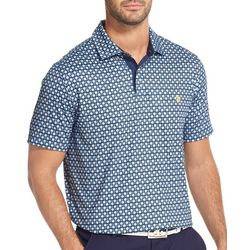 IZOD Golf Mens Golf Ball & Tee Print Polo Shirt