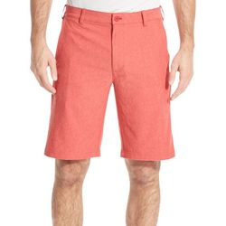 IZOD Golf Mens Oxford Flat Front Pocket Shorts