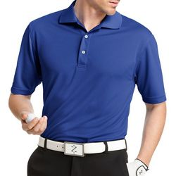 IZOD Golf Mens Grid Performance Polo Shirt