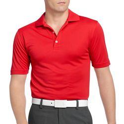 Mens Grid Performance Polo Shirt