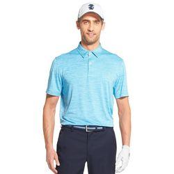IZOD Golf Mens Greenie Stripe Polo Shirt