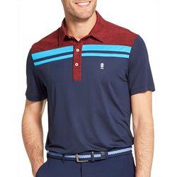 IZOD Golf Mens Colorblocked Stripe Polo Shirt