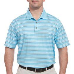 Pebble Beach Mens Multi Stripe Print Polo Shirt