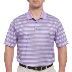 Pebble Beach Mens Multi Stripe Print Polo Shirt