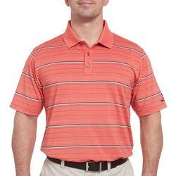 Mens Horizontal Stripe Print Polo Shirt