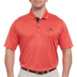 Pebble Beach Mens Heathered Jacquard Polo Shirt