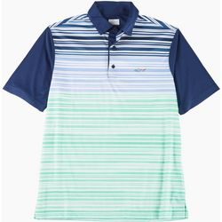 Greg Norman Collection Mens Ombre Stripe Polo Shirt