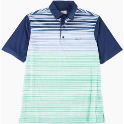 Mens Ombre Stripe Polo Shirt