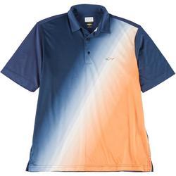 Mens Diag Fade Ombre Polo Shirt