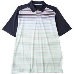 Greg Norman Collection Mens WeatherKnit Striped Polo Shirt