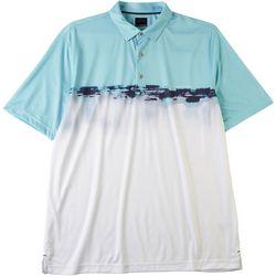 Greg Norman Collection Mens Watercolor Stripe Polo Shirt