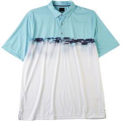 Mens Watercolor Stripe Polo Shirt