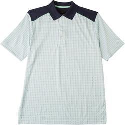 Mens WeatherKnit Print Polo Shirt