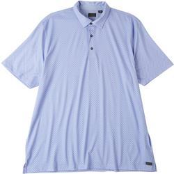 Mens Lunar Micro Print Polo Shirt