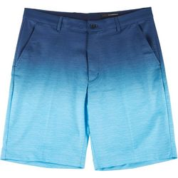 Greg Norman Golf Mens Woven Ombre Stripe Shorts