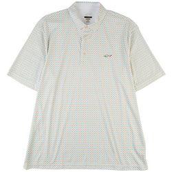 Greg Norman Collection Mens Diamond Print Polo Shirt