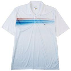 Greg Norman Mens Watercolor Chest Stripe Polo Shirt