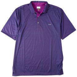 Greg Norman Collection Mens Stripe Print Polo Shirt