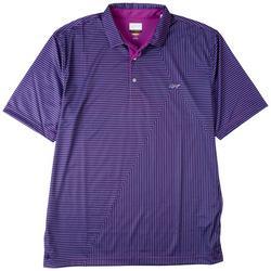 Mens Stripe Print Polo Shirt