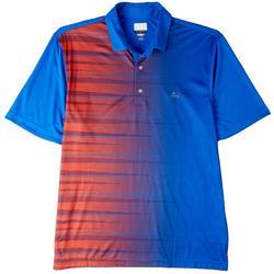 Mens Ombre Multi Stripe Polo Shirt