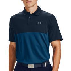 Mens HeatGear Colorblock Polo Shirt