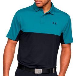 Mens Colorblocked Polo Shirt