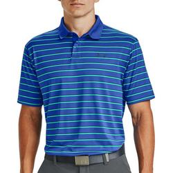 Mens UA Performance Stripe Golf Polo Shirt