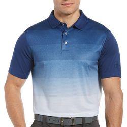 PGA TOUR Mens Ombre Stripes Polo Shirt