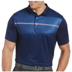 Mens Engineered Stripe Short Sleeve Polo Shirt