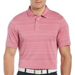 PGA TOUR Mens Fashion Stripe Polo Shirt