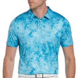 PGA TOUR Mens Marble Print Polo Shirt