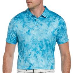 Mens Marble Print Polo Shirt