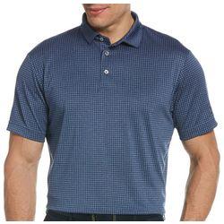 PGA TOUR Mens Grid Plaid Print Polo Shirt